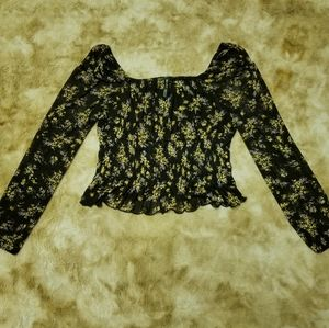 Design Lab peplum style blouse with floral print
